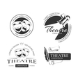 Vintage theatre labels emblems badges and vector image