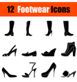 Set of womans footwear icons vector image vector image