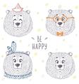 bear cute set vector image