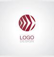 circle arrow right logo vector image