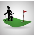 Golf design Sport icon Isolated vector image