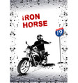 Gray background with motorcycle image vector image