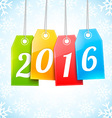 Happy New 2016 Year Greetings Card vector image