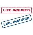 Life Insured Rubber Stamps vector image