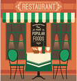 modern flat design of restaurant vector image