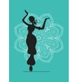 Belly dancer sketch for your design vector image vector image