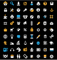 Icon set on black background vector image vector image