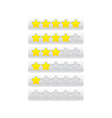 yellow progress bar from stars vector image vector image