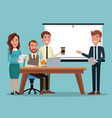 color background teamwork executive in desk for vector image