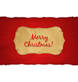 Rip White Paper And Dark Red Christmas Background vector image vector image