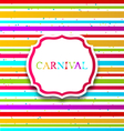 Colorful card with advertising header for carnival vector image