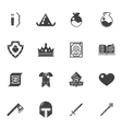 Fantasy game trendy icons vector image