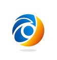 eye symbol video logo vector image