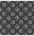 Dark binocular seamless pattern vector image