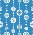 Seamless christmas pattern xmas ball toys vector image vector image