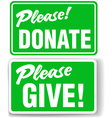 please donate vector image vector image