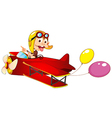 A monkey in airplane vector image