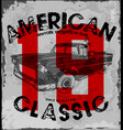 american classic car vintage race car for vector image
