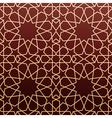 Arabic geometric art seamless pattern vector image