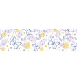 Butterfly garden horizontal seamless pattern vector image