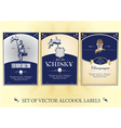 collection of labels for alcohol vector image