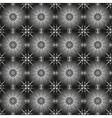 Geometric monochrome pattern vector image