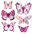 Hand drawn butterflies vector image