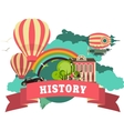history vector image