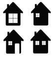 house icon in black color vector image