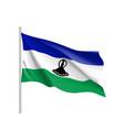 lesotho realistic flag vector image