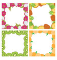 set of square colored frames composed of delicious vector image