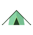 tent icon on white isolated background vector image