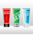 set of plastic colored tube red vector image
