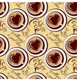 Seamless pattern with coffee cups calligraphic vector image