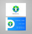 medical card template vector image