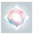 Abstract background with geometric crystals vector image vector image