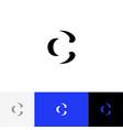 c minimalism logo inversion letter c vector image