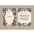 Elegant card with a floral pattern mandala vector image