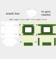 Green Snack Box 12x14x65cm vector image