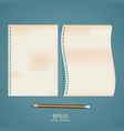 old note paper with pencil vector image