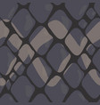 pattern of grey snake skin with ornaments vector image