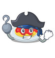 pirate spaghetti character cartoon style vector image