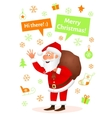 Santa Claus flat character isolated on white vector image