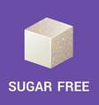 sugar free icon flat vector image