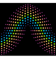 Abstract rainbow element background consisting vector image