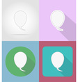 speech bubbles flat icons 14 vector image vector image