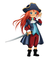 Girl-Pirate vector image