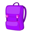 Backpack icon cartoon style vector image