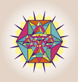Star Tetrahedron poster vector image vector image
