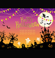 a seamless halloween vector image